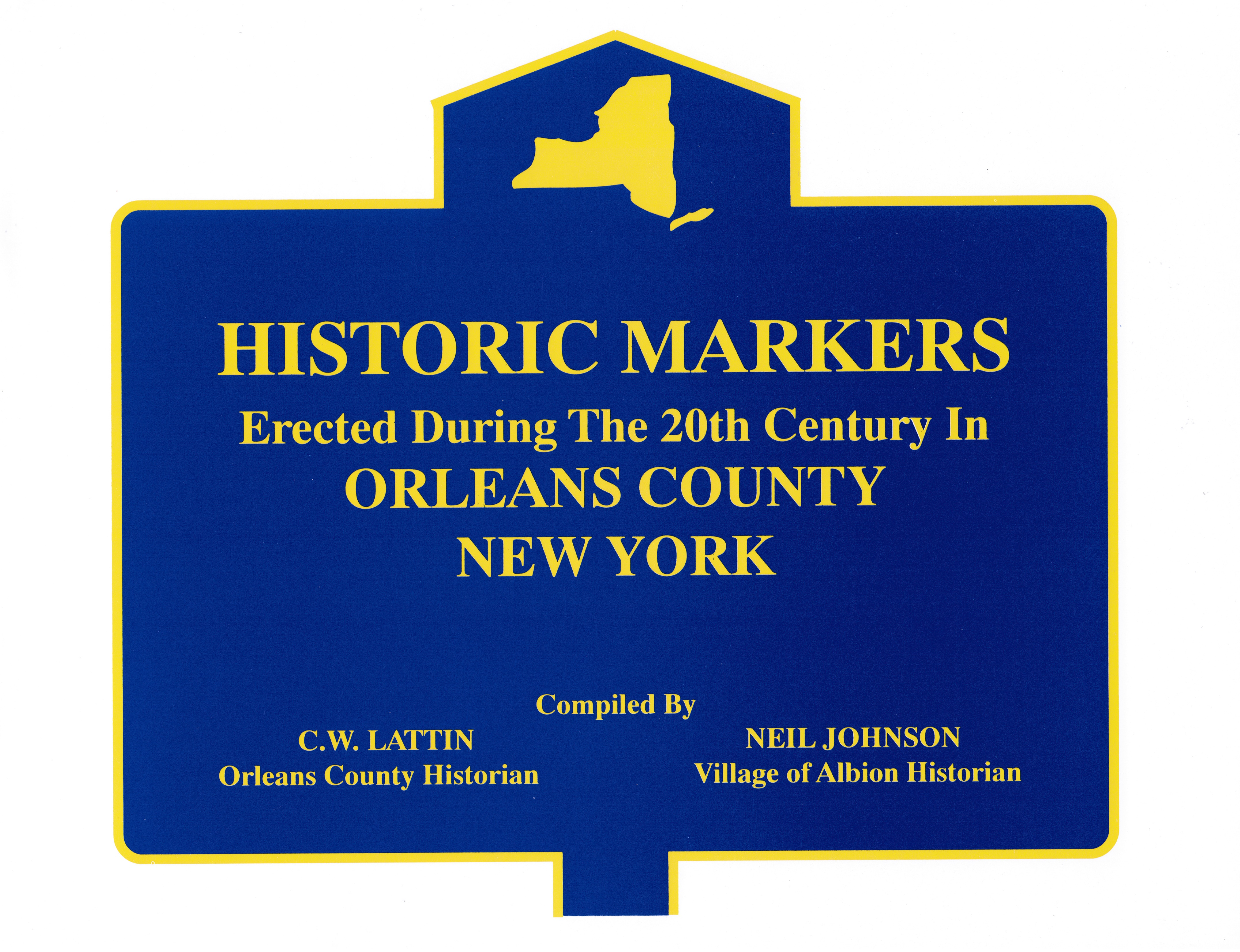 New york orleans county - Historic Markers Of Orleans County