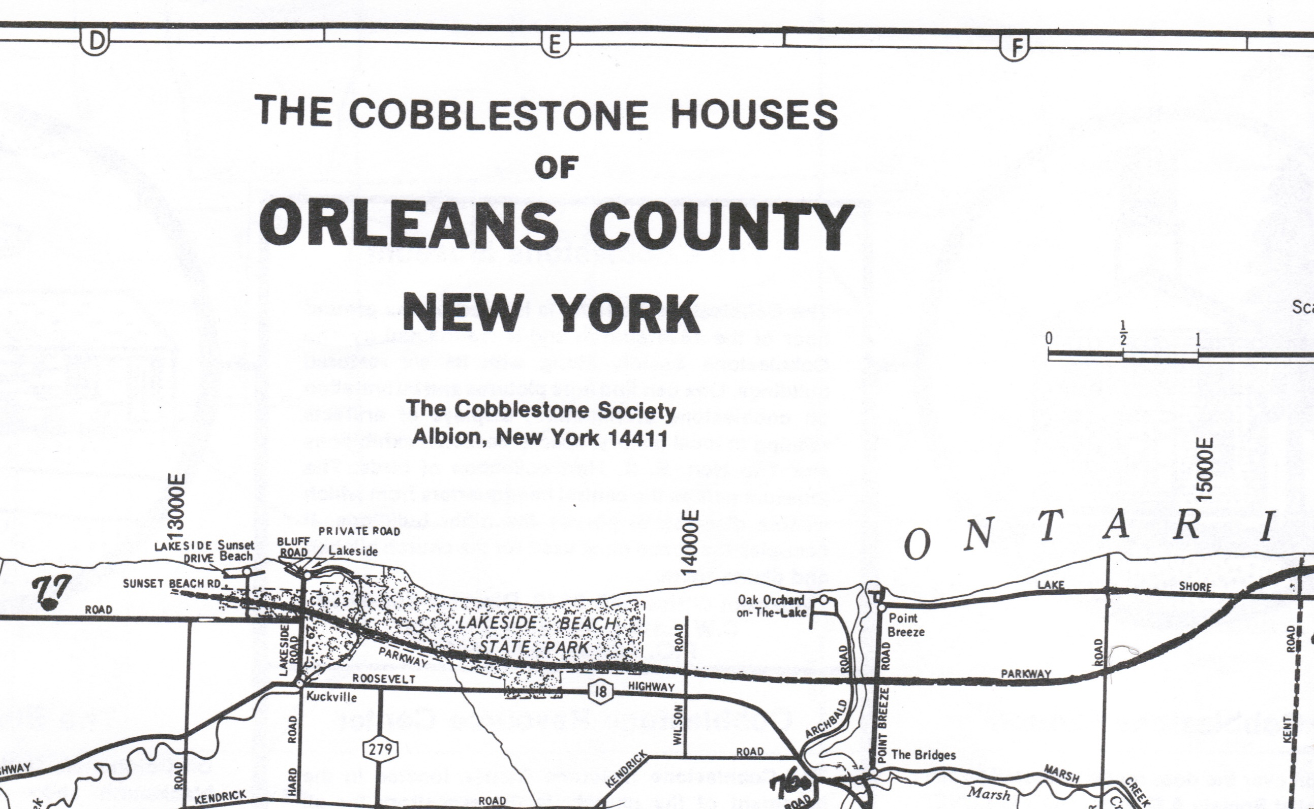 Counties In New York Map.The Cobblestone Museum The Cobblestone Houses Of Orleans County